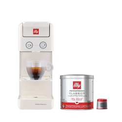 *COMBO* Máquina de Café illy Y3 Branca 120v + 1 lata de cápsula iperespresso