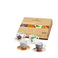 illy sustainArt Set of 4 Cappuccino Cups