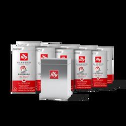 Café en capsules compatibles* CLASSICO et boîte de rangement