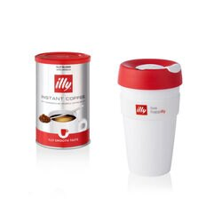 Caffè solubile gusto classico e Travel Mug KeepCup live happilly bianca da 450ml