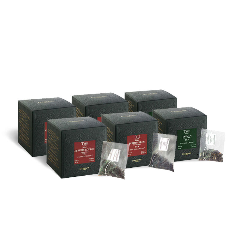 Dammann® Flavored Tea Sachet Sampler Bundle - 6-Pack