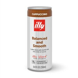 Ready to Drink - Cappuccino - Case of Twelve 8.5oz Cans - illy