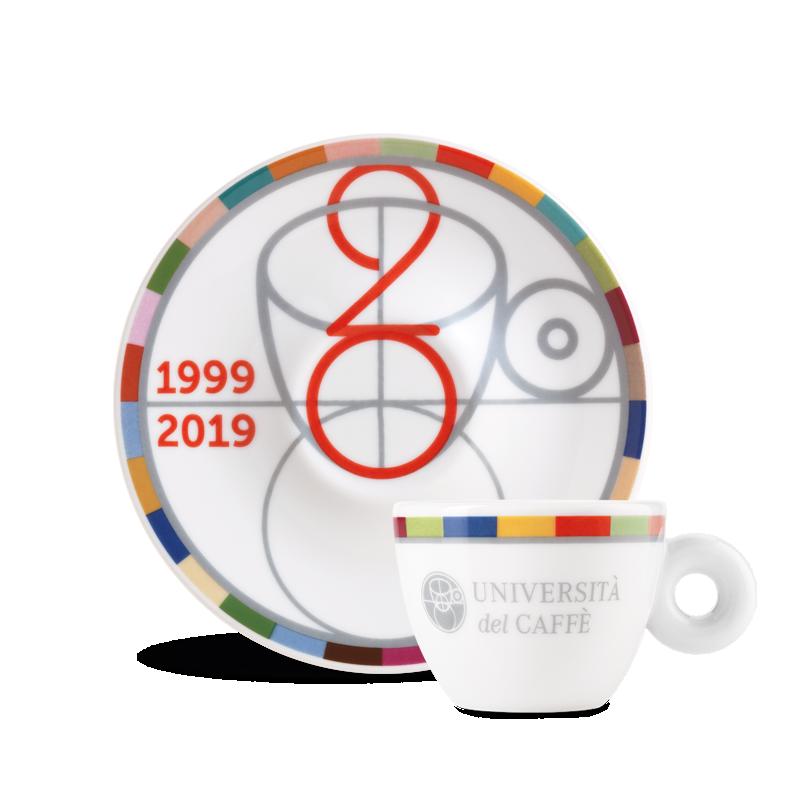 Tazzina da caffè 20° anniversario Università del Caffè
