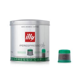 Decaffeinated iperEspresso Espresso Capsule Can Front View