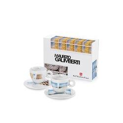 MAURIZIO GALIMBERTI - 2 cappuccino koffiekopjes