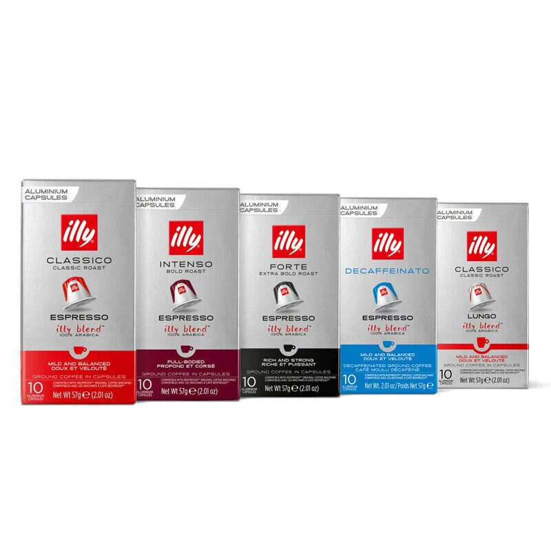illy compatible espresso capsule 5 box bundle