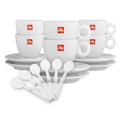 illy Entertaining Gift Set (Set of 6 Cups & Stirrers)