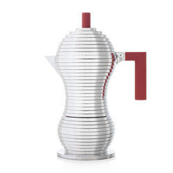 Cafetière Moka Alessi Pulcina Induction rouge - 6 tasses