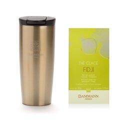 Dammann Frères - Thermosbeker goud + Fidji ijsthee