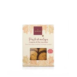 Paste di meliga ricoperte di cioccolato fondente Domori