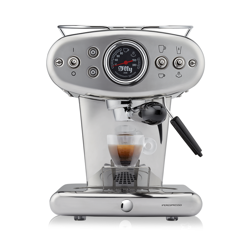 illy X1 iperEspresso Anniversary Machine - Espresso & Coffee - Stainless Steel - Glass Espresso Cup