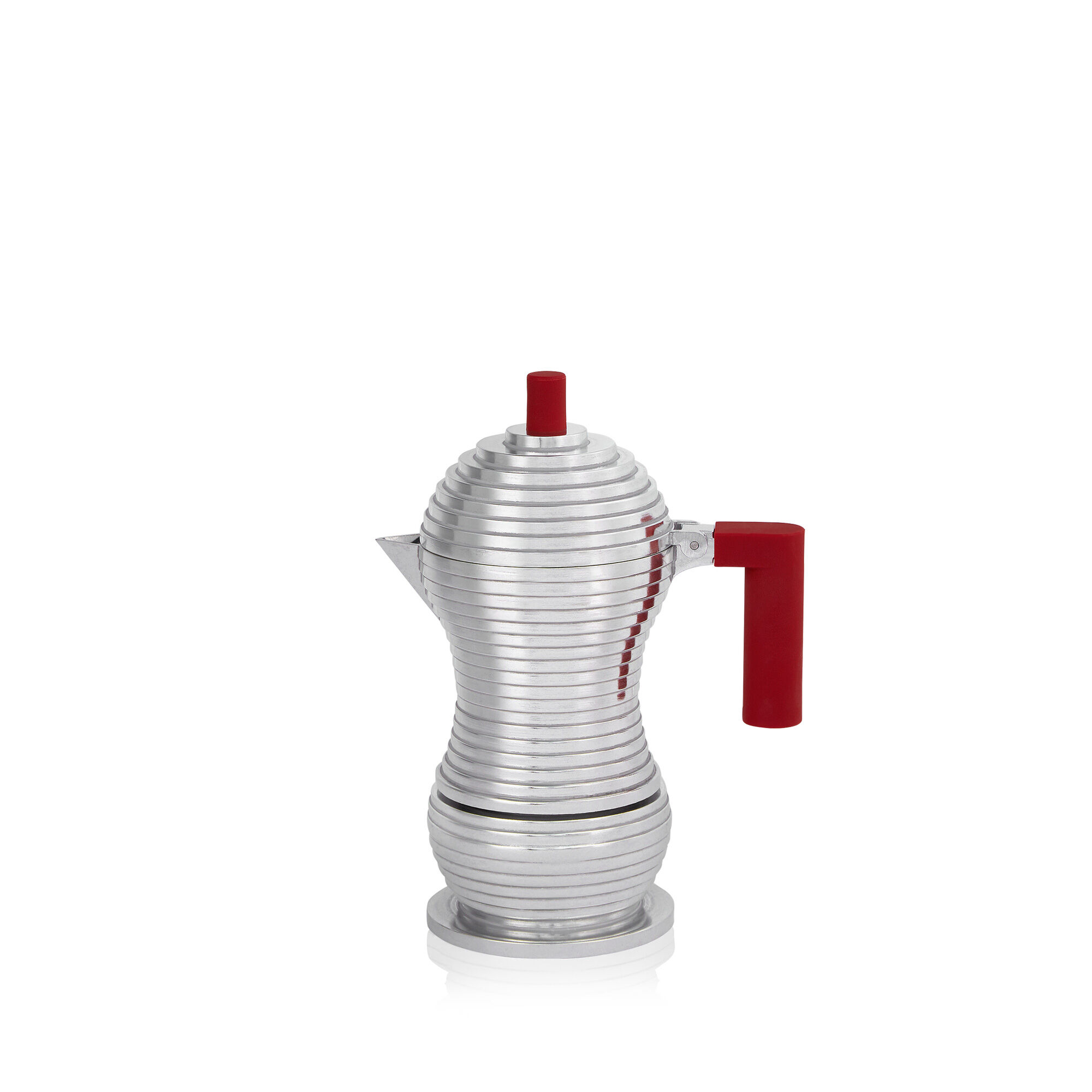 Alessi Pulcina 1 Cup Moka Pot - Red