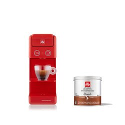 *COMBO* Máquina de Café illy Y3.3 Vermelha 120v + 6 latas de cápsulas iperespresso