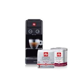 *COMBO* Máquina de Café illy Y3.3 Preta 120v + 3 latas de Café illy Cápsula iperEspresso e 4 pacotes de Café illy Cápsula iperEspresso Coado Clássico