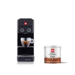 *COMBO* Máquina de Café illy Y3.3 Preta 120v + 6 latas de cápsulas iperespresso