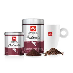 Kit Café illy Arabica Selection Guatemala + 1 Caneca logo illy