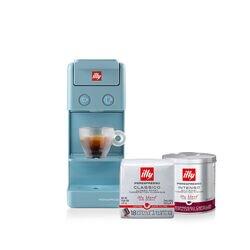 *COMBO* Máquina de Café illy Y3.3 Azul 120v + 3 latas de Café illy Cápsula iperEspresso e 4 pacotes de Café illy Cápsula iperEspresso Coado Clássico