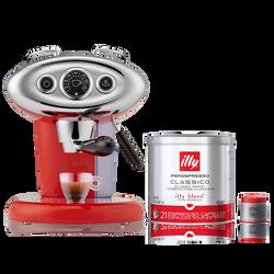 *COMBO* Máquina de Café illy X7.1 120v Vermelha + 1 lata de Café illy Cápsula iperEspresso Clássico