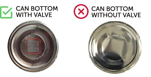 illy Whole Bean Can Valve