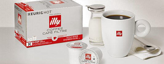 illy K-Cup® pods brew a single serving of illy coffee in any Keurig® K-Cup® brewer.