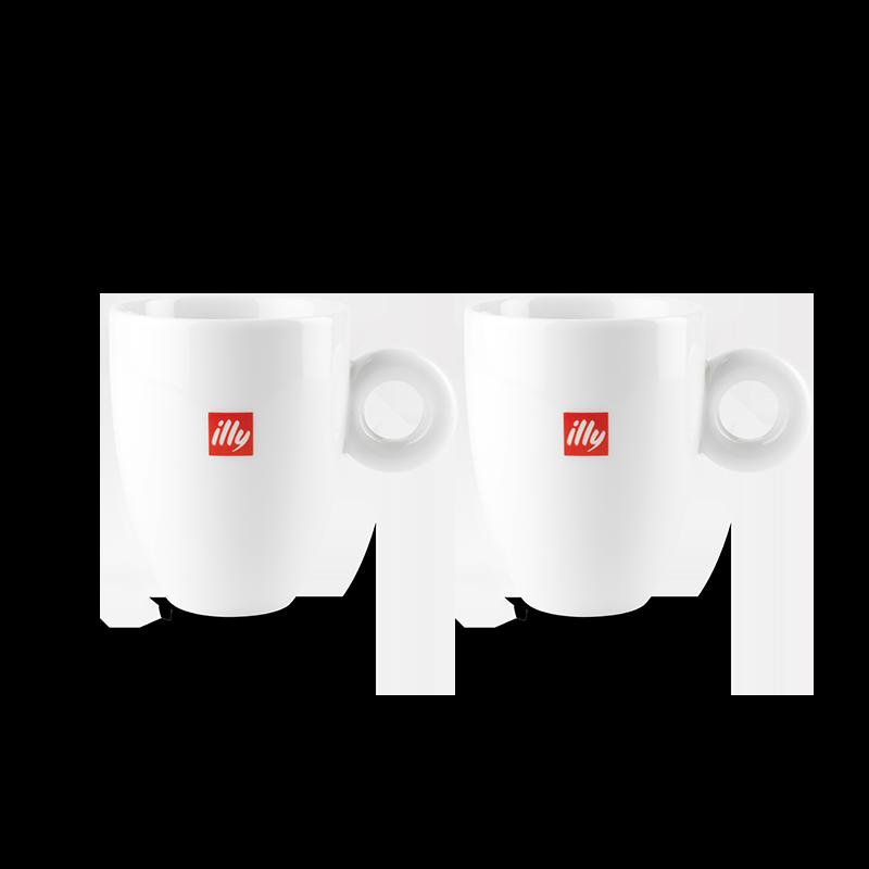 illy Logo Mugs Set of 2