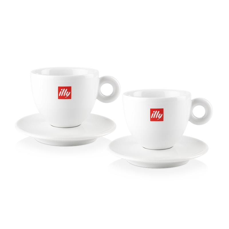 illy Logo Cappuccino Cups Set of 2