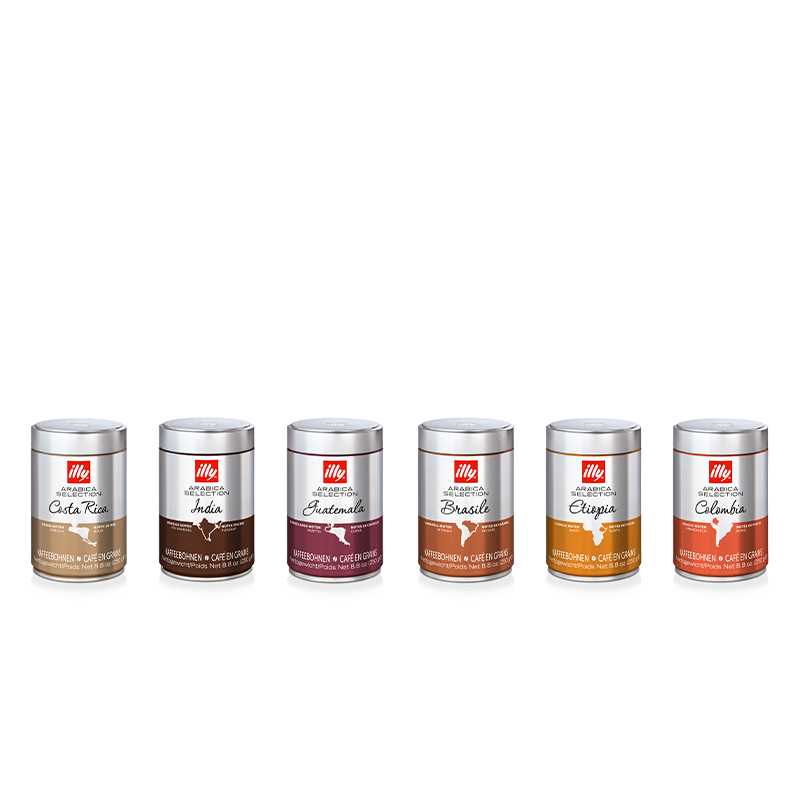 Offre de dégustation Arabica Selection - 6 boîtes de 250 g