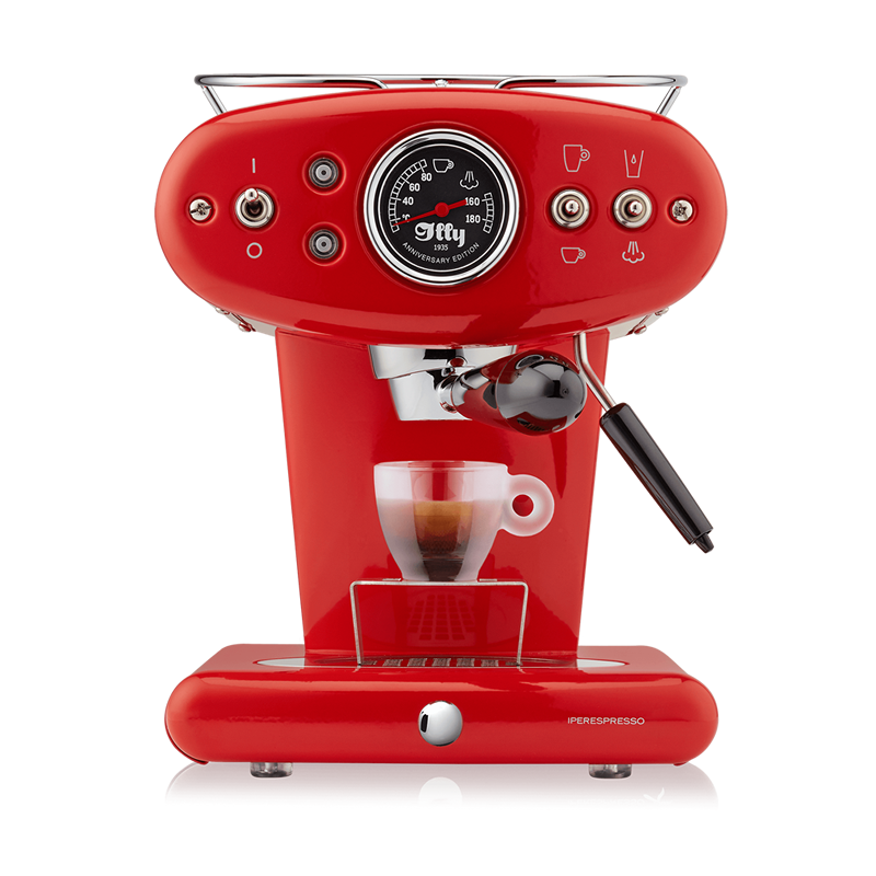 illy X1 iperEspresso Anniversary Machine - Espresso & Coffee - Red - Glass Espresso Cup