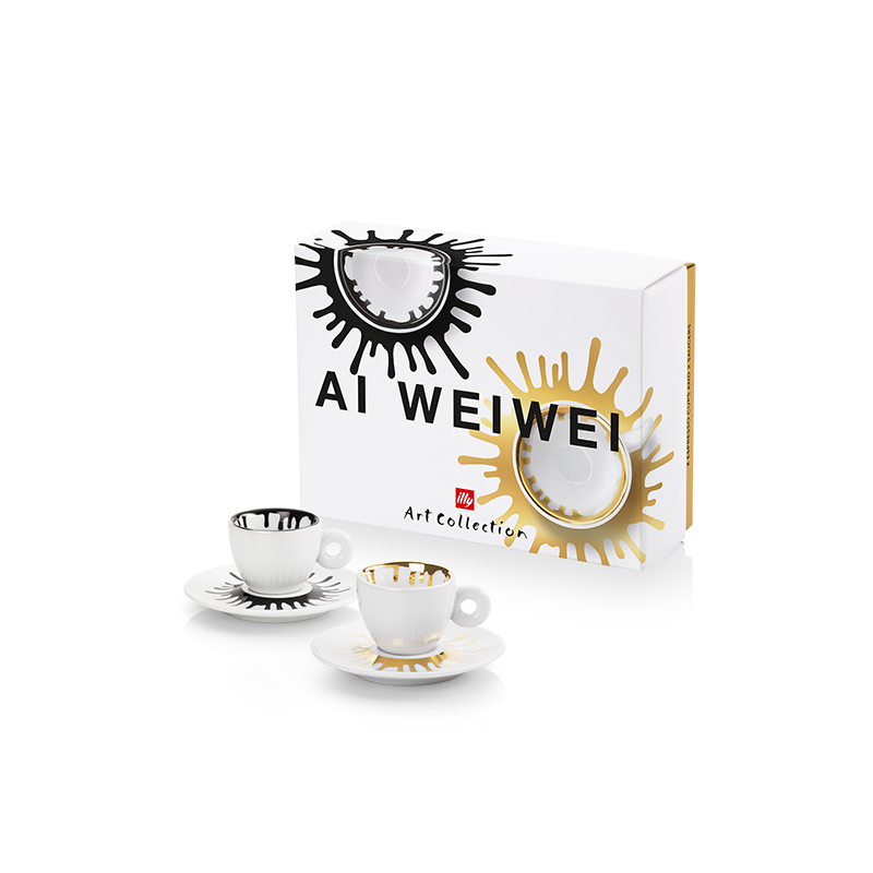 illy Art Collection Ai Weiwei Set of 2 Espresso Cups