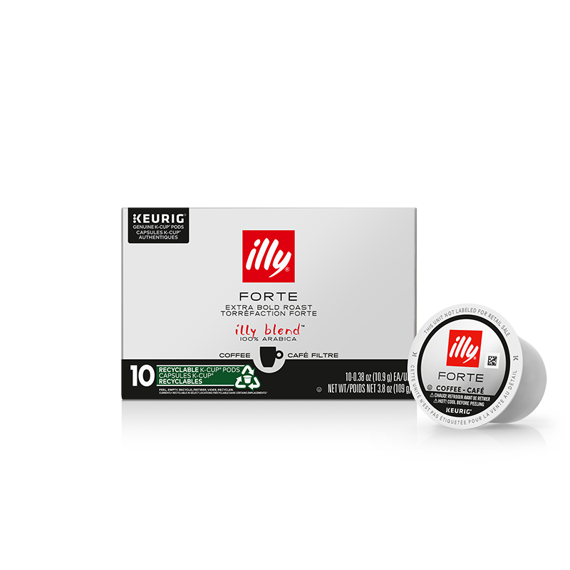 K-Cup® Pods - Forte Extra Dark Roast - 10 K-Cup® Pods - illy