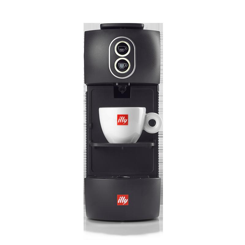 Kit machine à café noire avec dosettes Classico, Intenso, Forte, Lungo et Décaféiné