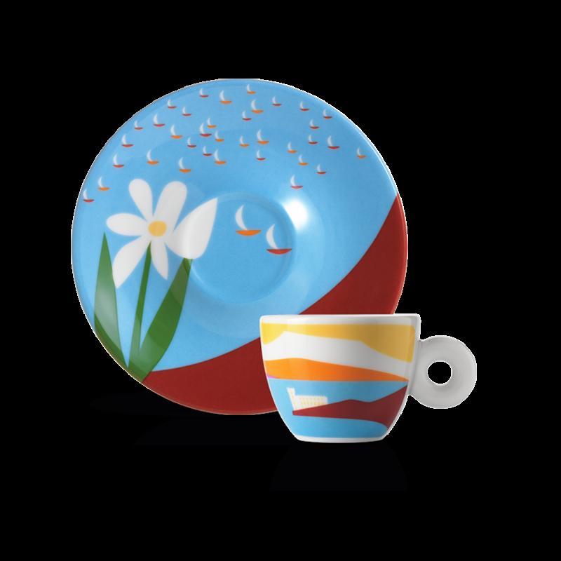 illy Art Collection Olimpia Zagnoli design dedicato alla Barcolana 2019 - tazzina da caffè espresso
