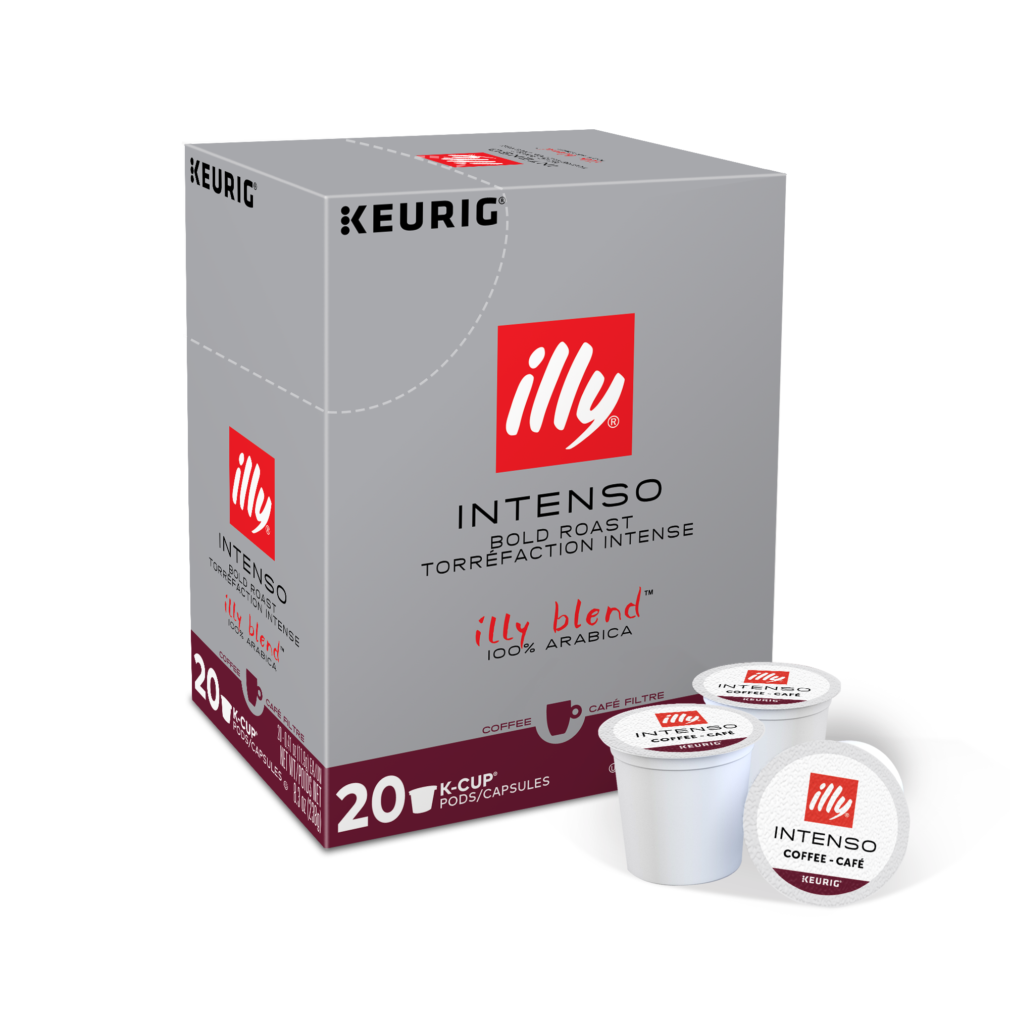K-Cup® Pods - Intenso Dark Roast - 20 K-Cup® Pods - side - illy