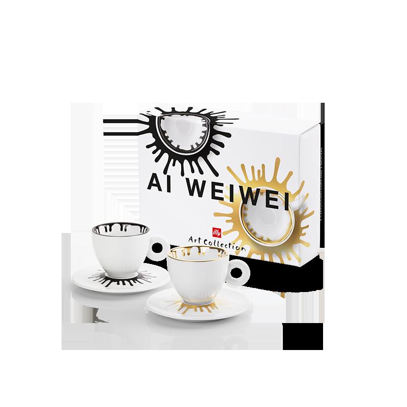 Set da 2 tazze da cappuccino - illy Art Collection Ai Weiwei