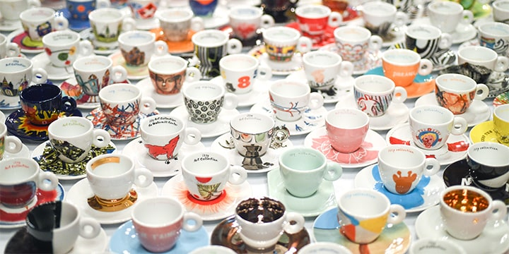 illy Art Collection set di tazze per espresso e cappuccino